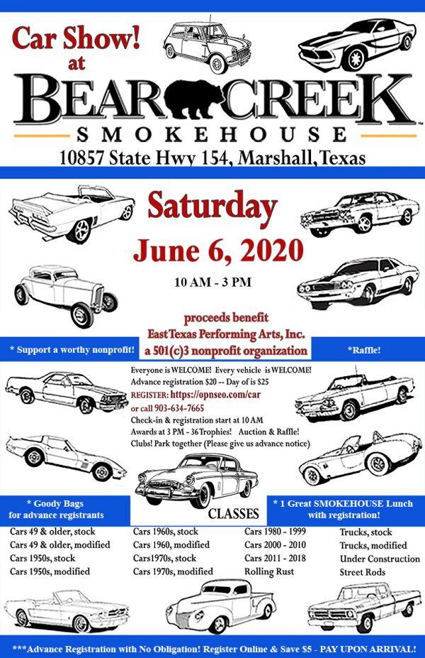 June 6, 2020 car show poster